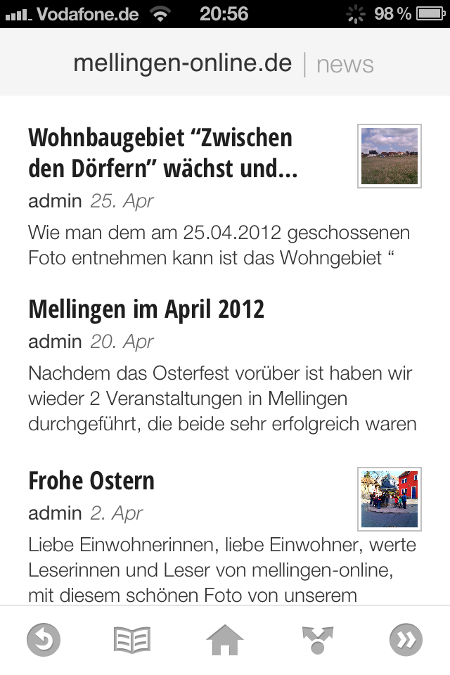 Der Mellinger Webauftritt: Besucherstatistik April 2012 & Google Currents
